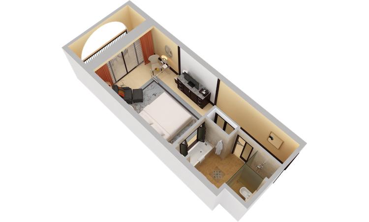 Ritz Carlton Abu Dhabi Grand Canal Deluxe Room 3d