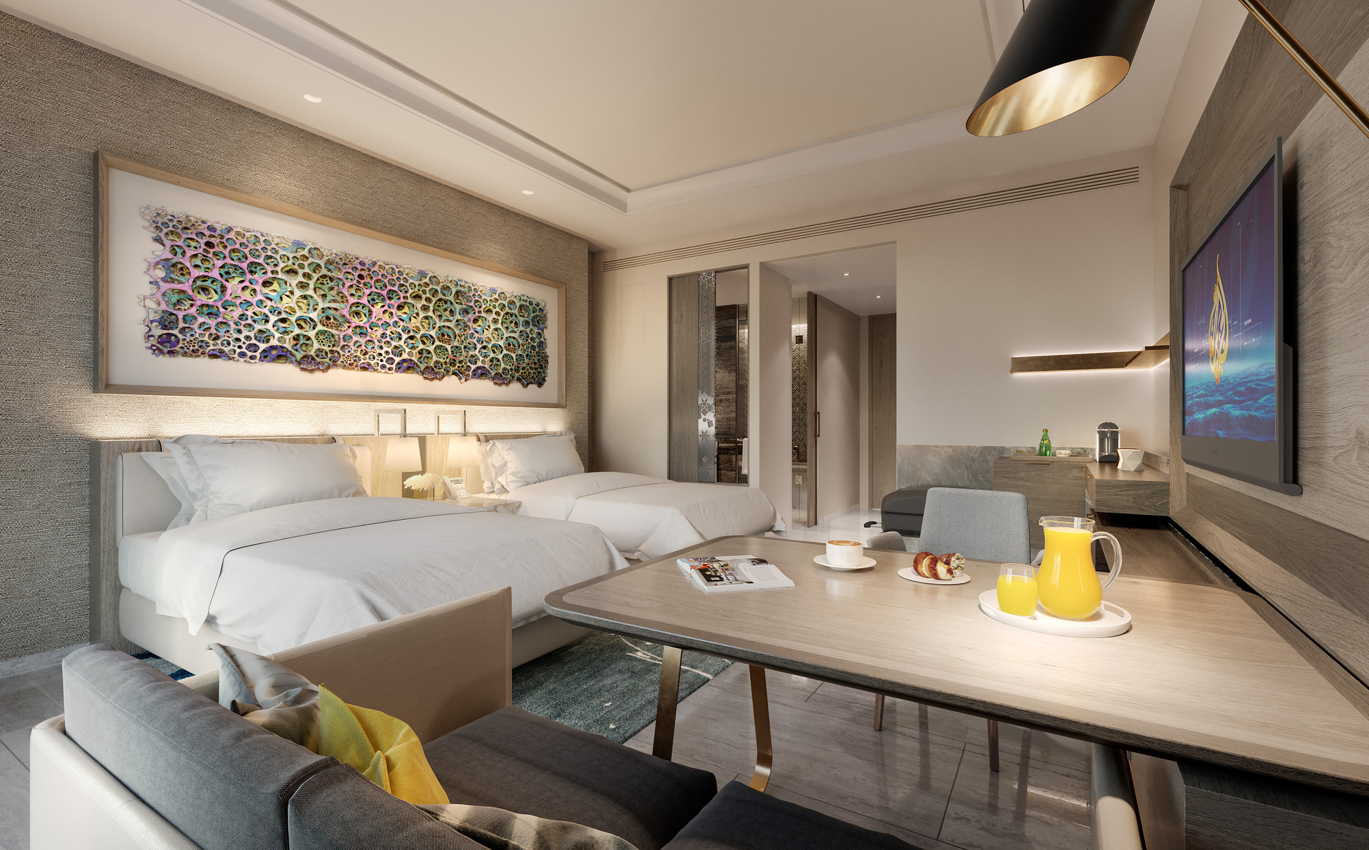 Hilton Abu Dhabi Yas Island 2 Double Beds Room
